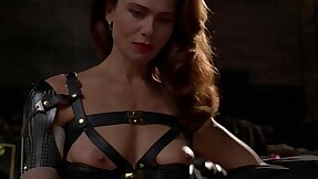 Brunette Lena Olin in skivvies shows withdraw the brush small tits